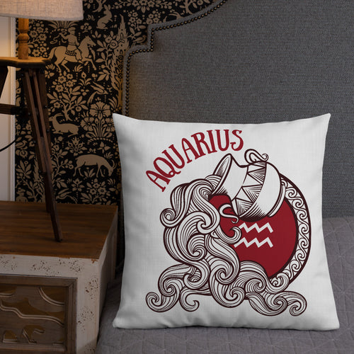 Aquarius Water Bearer Astrology Premium Pillow - Bodhi Crave