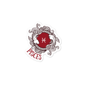 Pisces Two Fish Water Sign Bubble-free stickers - Bodhi Crave