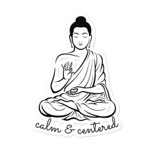 Calm and Centered Meditation Buddha Bubble-free stickers - Bodhi Crave