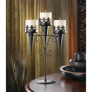 Medieval Triple Candle Stand - Bodhi Crave