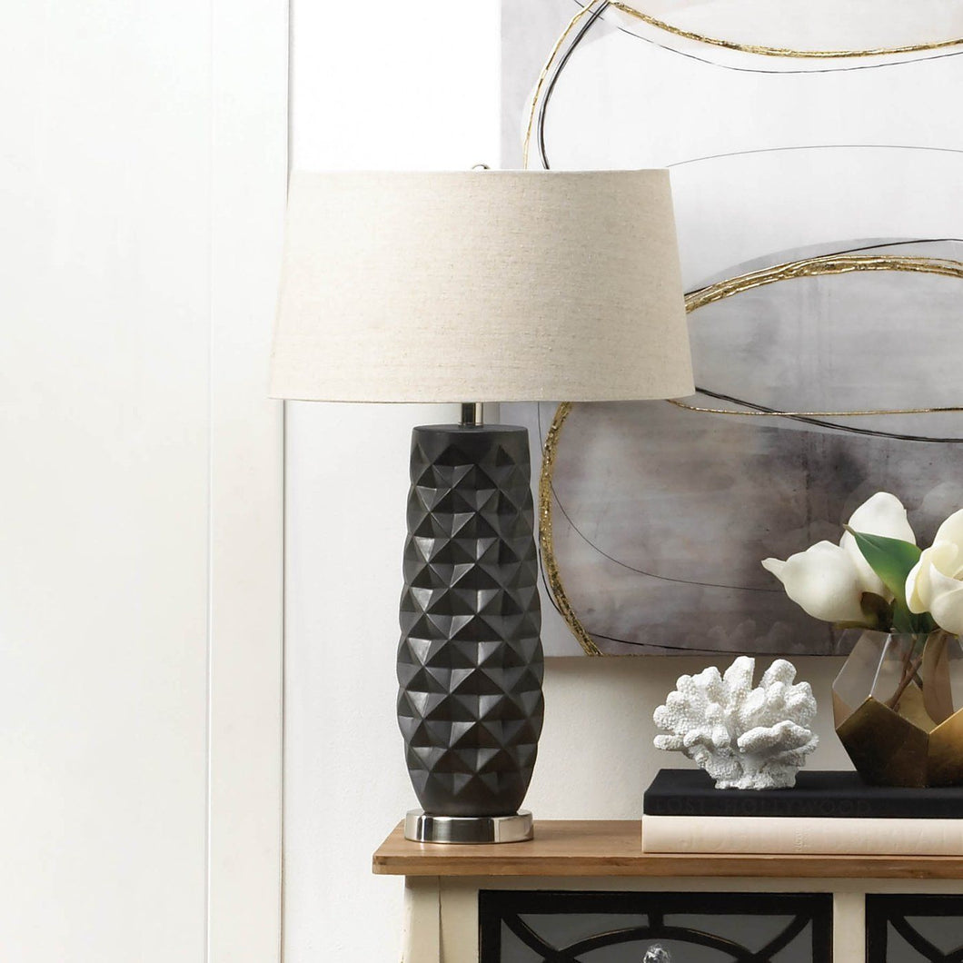 Tao Charcoal Prism Table Lamp - Bodhi Crave