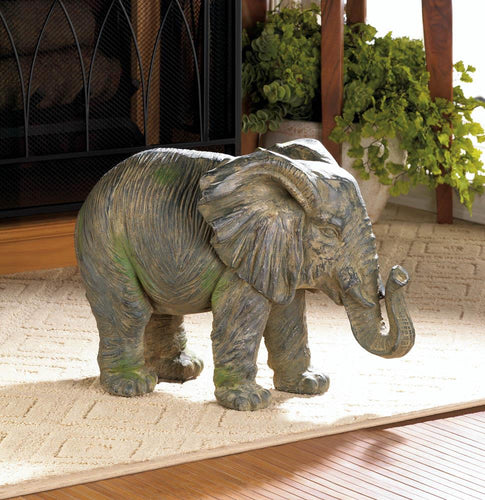 Weathered Elephant Statue - Bodhi Crave