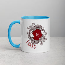 Pisces Two Fish Water Sign Mug with Color Inside - Bodhi Crave