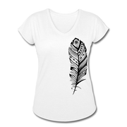Feather Women's Tri-Blend V-Neck T-Shirt - white
