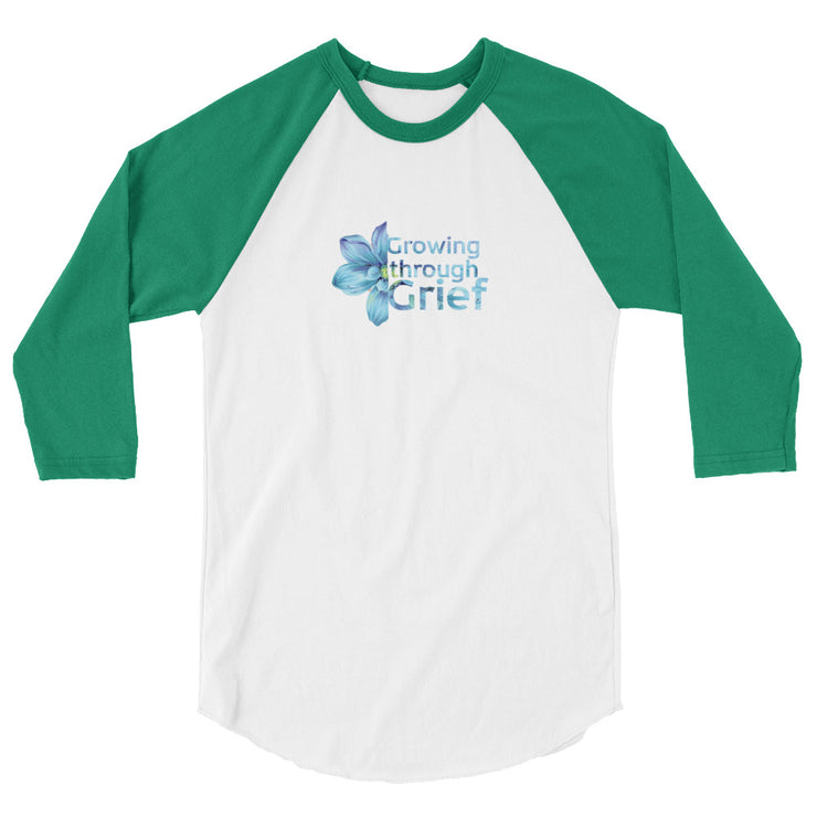 Growing Through Grief 3/4 sleeve raglan shirt