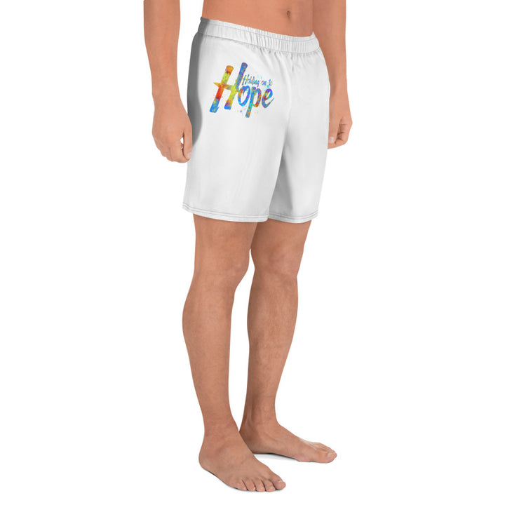 Holding on to Hope Men's Athletic Long Shorts