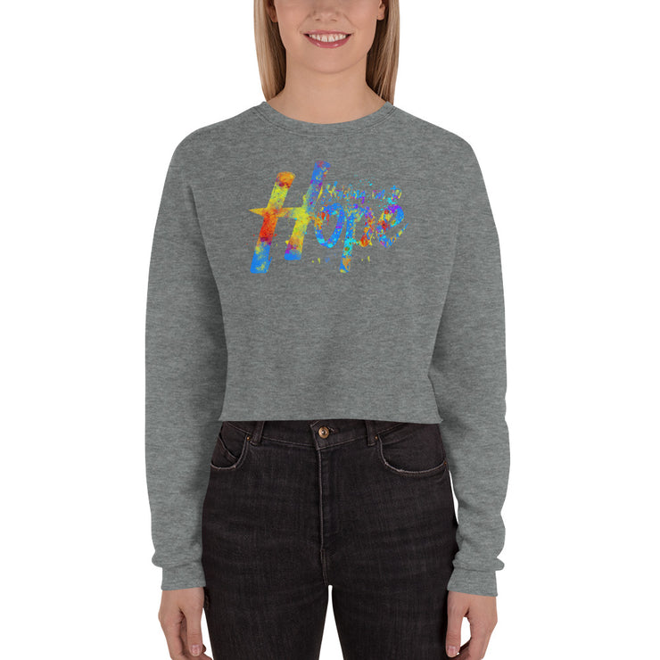Holding On To Hope Crop Sweatshirt
