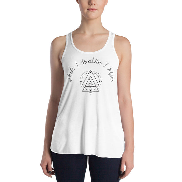 While I Breathe I Hope Women's Flowy Racerback Tank