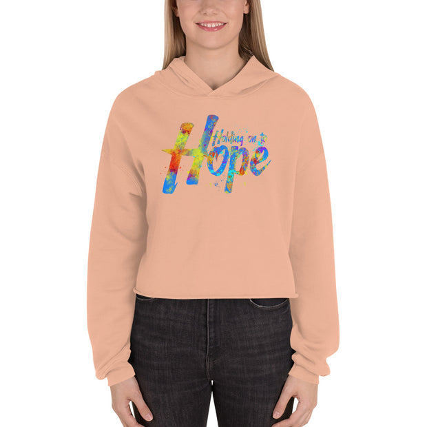 Holding on to Hope Crop Hoodie