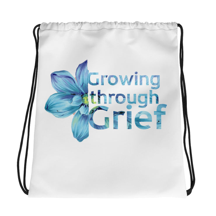 Growing Through Grief Drawstring bag