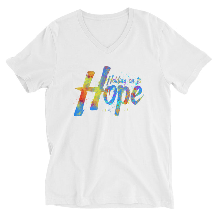 Holding On To Hope Unisex Short Sleeve V-Neck T-Shirt
