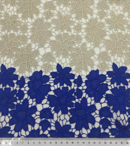 3 Meters Beautiful Two Colour Designer Embroidery Fabric for Dresses Wedding Decorations and More