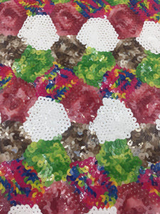 3 Meters Colourful Designer Sequence Fabric for Dresses Wedding Decorations and More