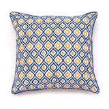 Cyan Ikkat Cushion Cover - Auruhfy India
