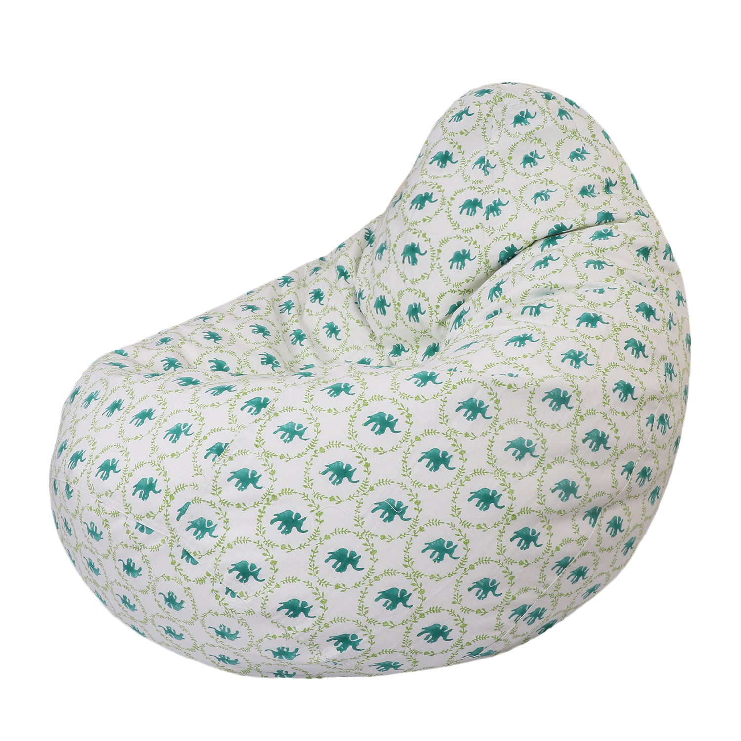 The Polka Elephant Bean Bag (Cover) - Auruhfy India