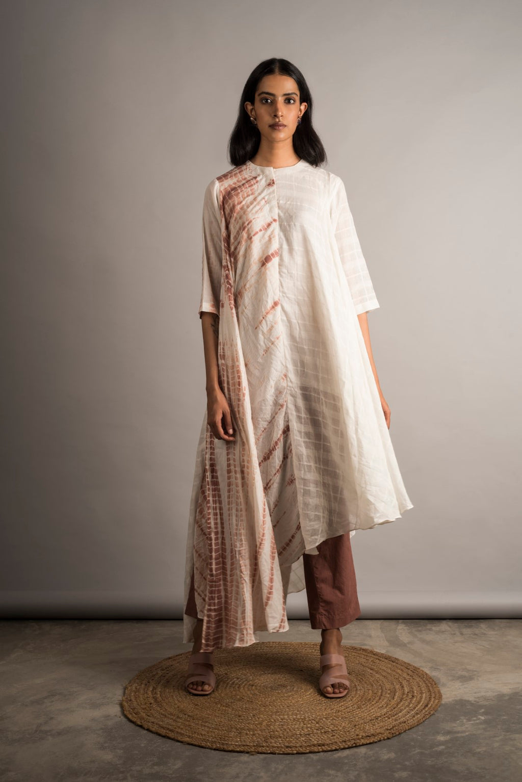 Asymmetric Half n Half Tunic / Set - Auruhfy India