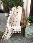Beige Multi Color Throw - Auruhfy India