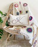 Gift Set (Circular twine throw + Personalised cushion) - Auruhfy India