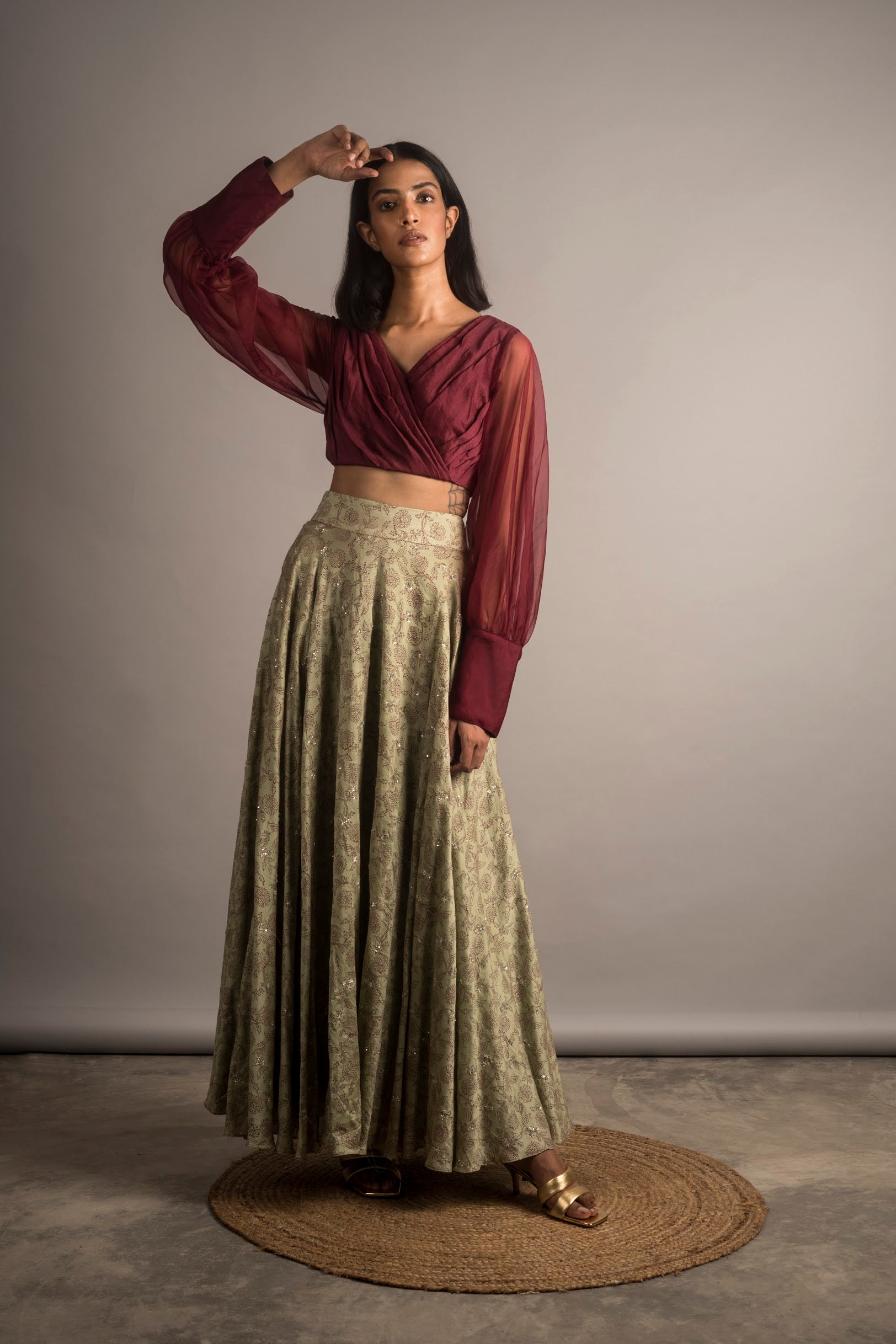 Embellished Lehanga Skirt/ Set - Auruhfy India