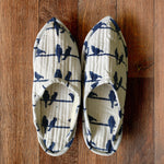 Whispering Blue Birds Indoor Slippers - Auruhfy India
