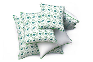 Polka Elephant Cushion Cover - Auruhfy India