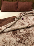 Mauve Tie-Dye Quilted Bedding Set - Auruhfy India