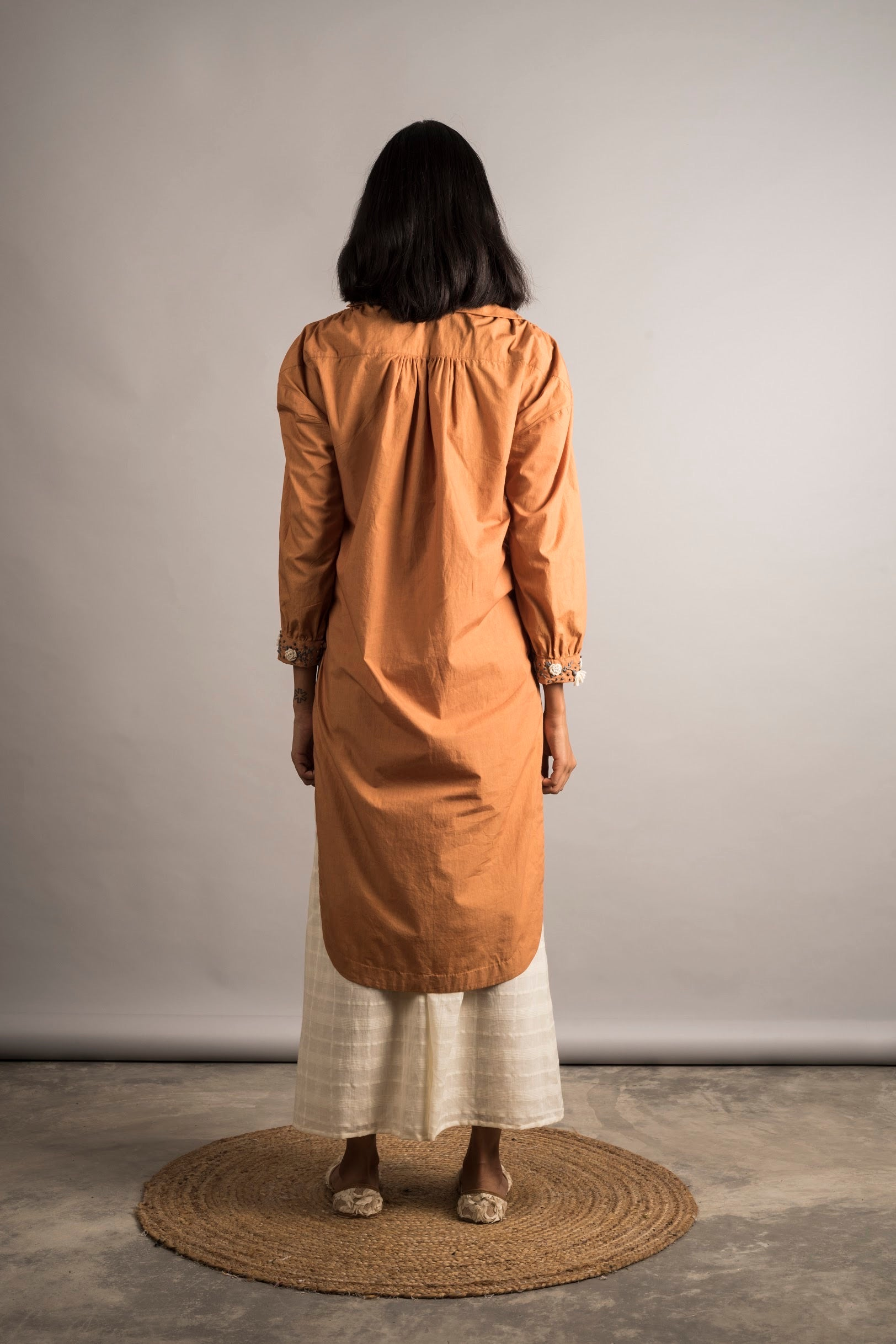 Rust Hi Low Tunic Set - Auruhfy India