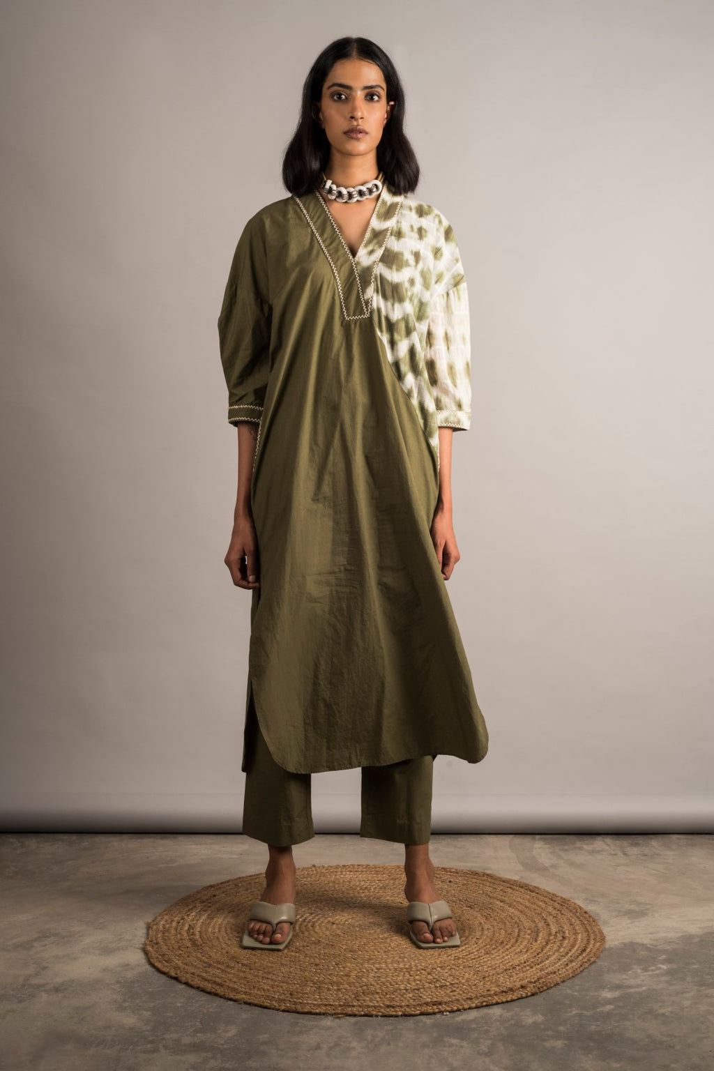 Moss Green Tunic Set