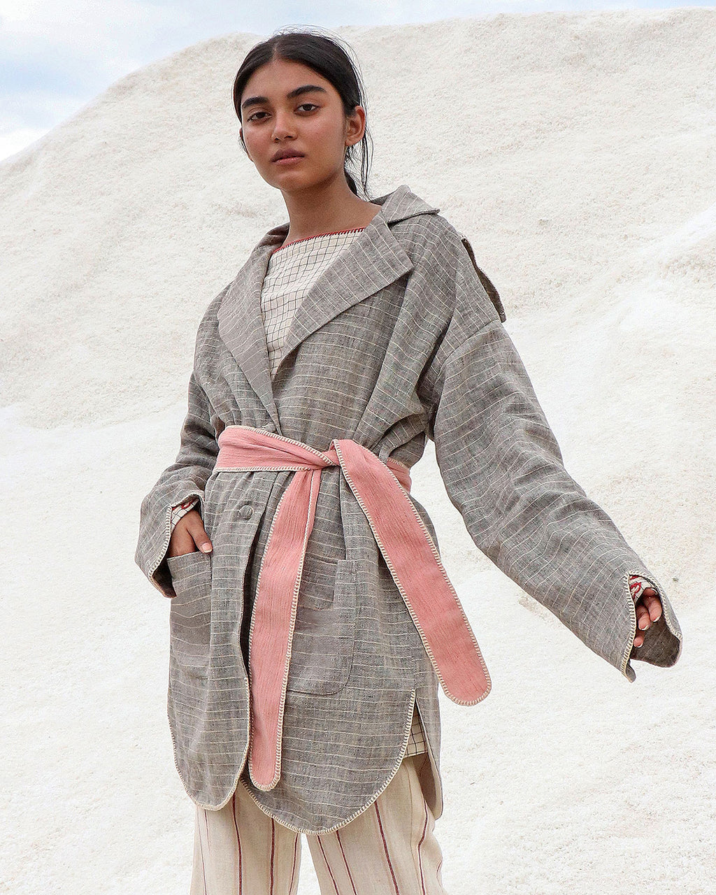 Prasuna Trench Coat - Auruhfy India