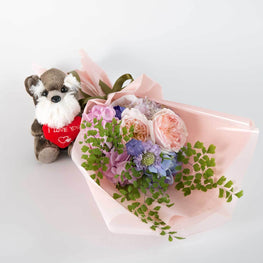 Little Scotty Dog with heart - Florii Flower Studio