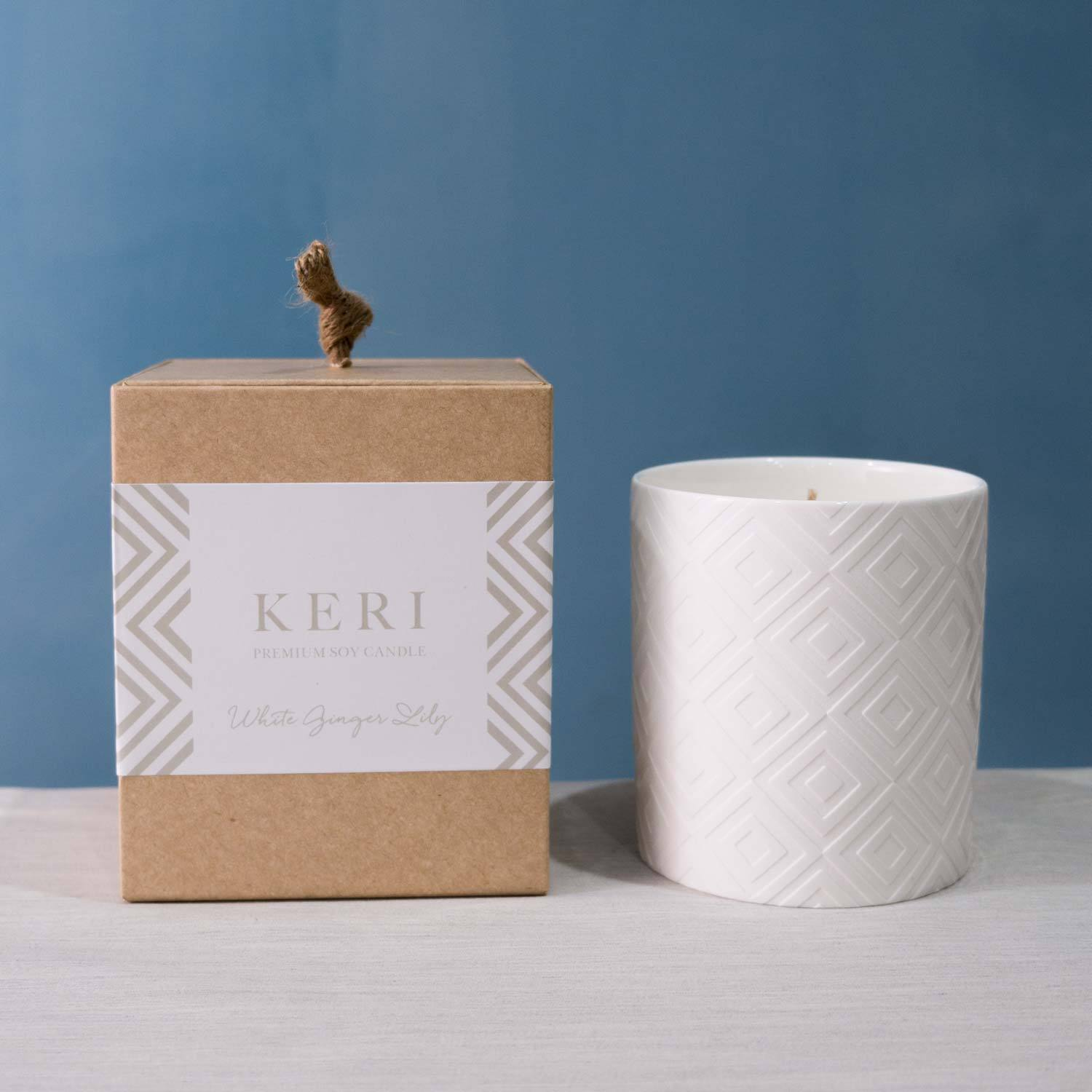 Luxury Soy Candle Ellie Ceramic Jar - Florii Flower Studio