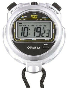 EA Combs 974SILVER Water resistant digital stopwatch - New - J & M Global Electronics Pty Ltd
