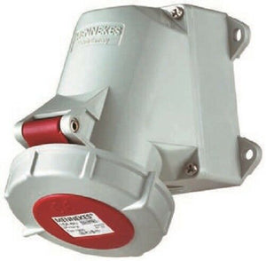 Mennekes 1210 Wall Mount 5P Right Angle Industrial Power Socket - J & M Global Electronics Pty Ltd
