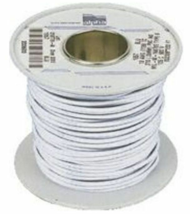 Alpha Wire White Hook Up Wire 0.9 mm² CSA 600 V 18 A 30m- New in Box- 1857-WH005 - J & M Global Electronics Pty Ltd