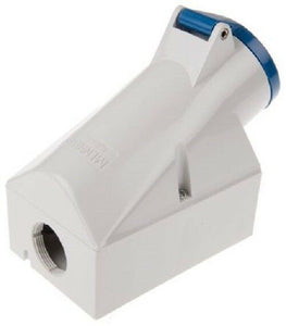 Mennekes 1421 Blue Wall Mount 2P+E Right Angle Industrial Power Socket - J & M Global Electronics Pty Ltd