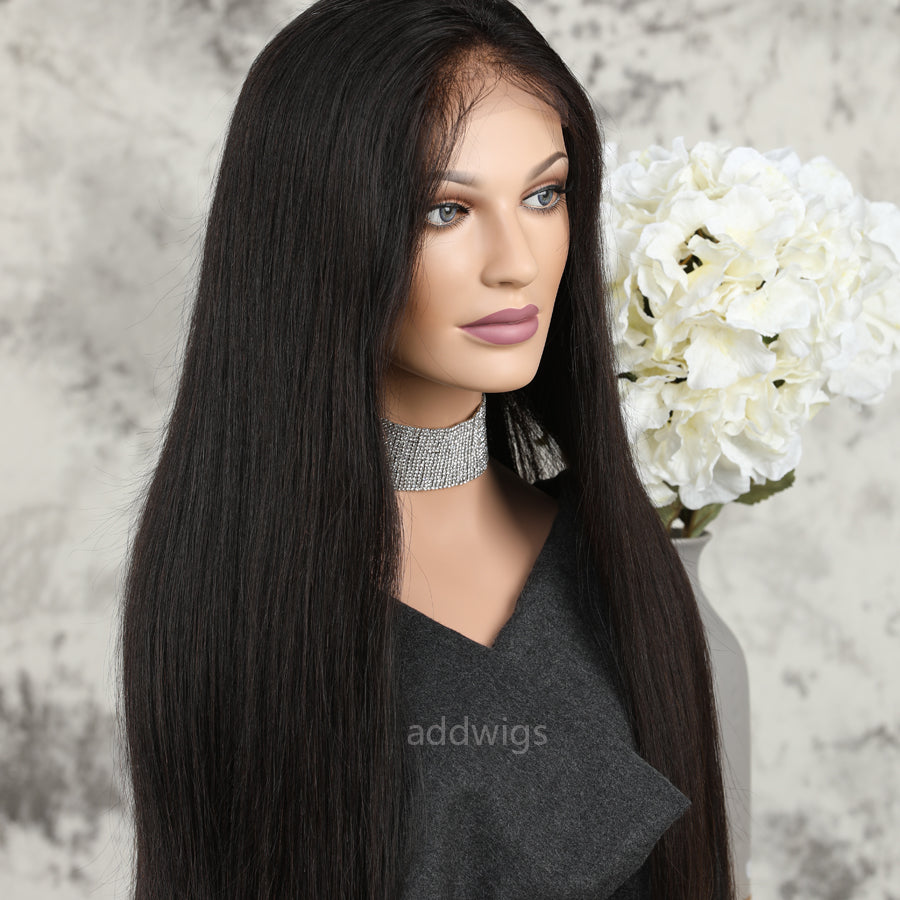 13 6 Deep Parting Lace Front Wig Uk Unprocessed Human Hair Wigs