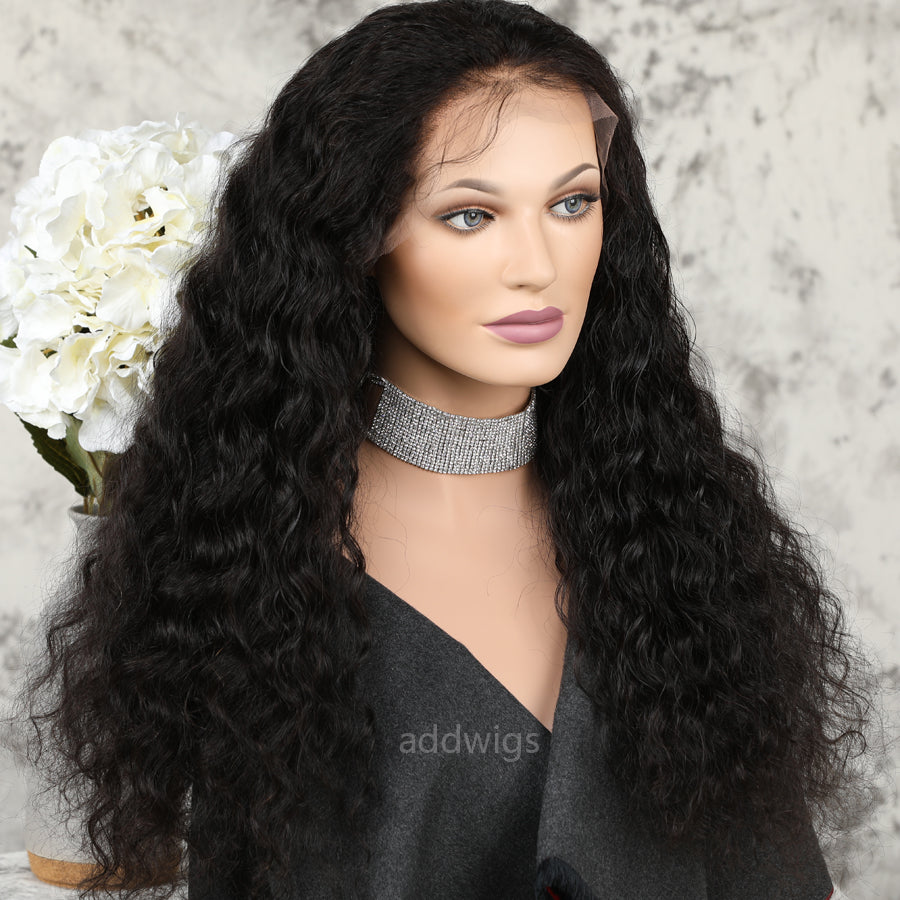 Loose Curly 360 Wigs Free Part With Natural Hairline Uk