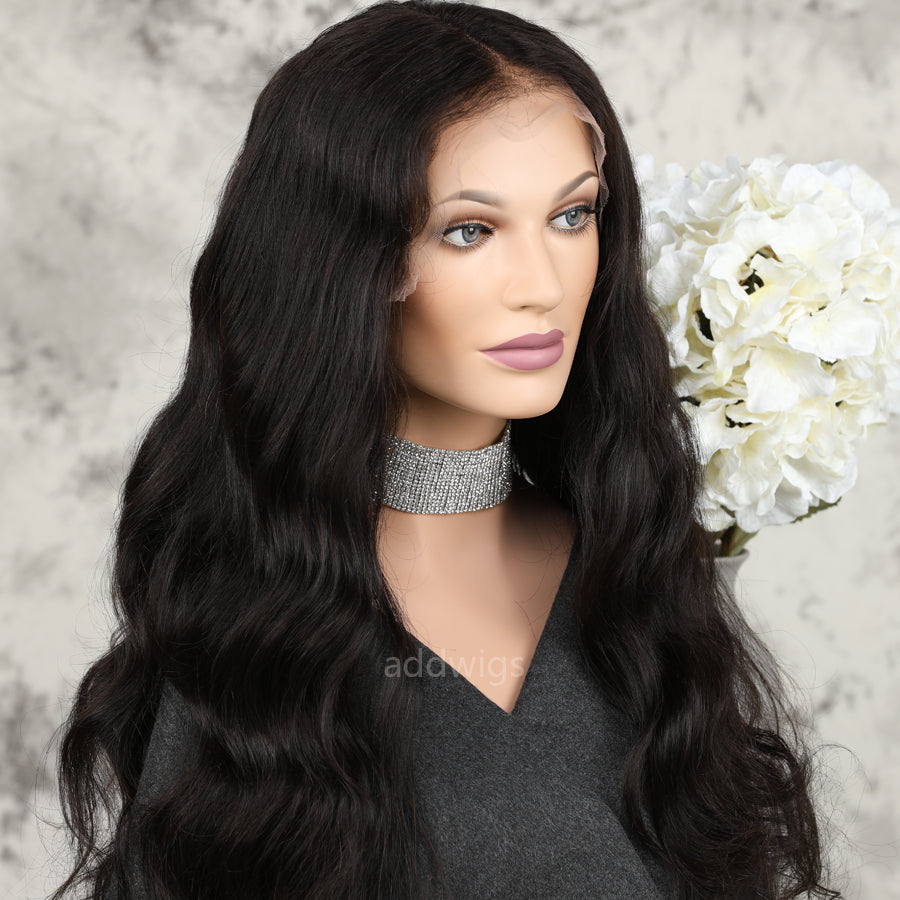 Classic Body Wave Full Lace Wig UK Human Hair Wigs For ...