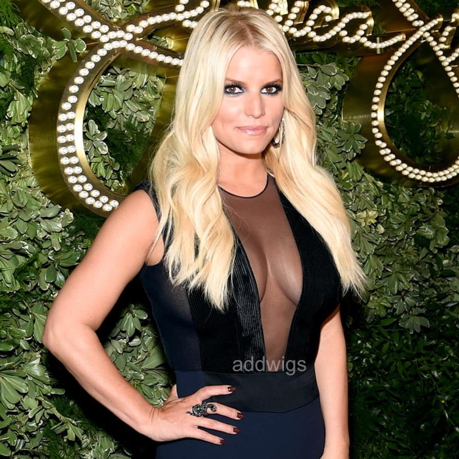 Blonde Wig Jessica Simpson Celebrity Customized Human Hair Wigs Uk
