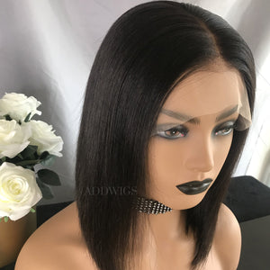 Bee Virgin Hair Lace Front Wigs Natural Black
