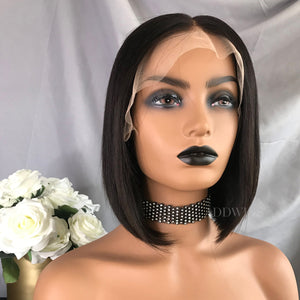 Babbie Virgin Hair Lace Front Wigs Natural Color