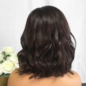 Anna Virgin Hair Lace Front Wigs Brown Hair Color