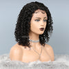 Lace Front Wigs Brazilian Human Hair Curly Wig Natural Color