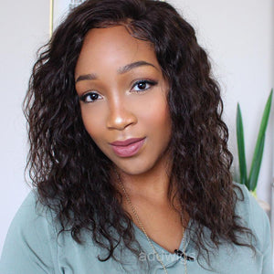 2020 Hot Sale Loose Curly Human Hair 360 Lace Frontal Wigs