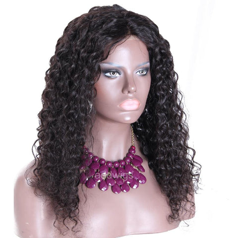 Full Curly Human Hair 360 Lace Front Wigs Beautiful Curly Wig for Black Women