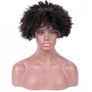 Afro Kinky Curly 360 Lace Front Wig Human Hair For Black Women