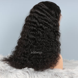 Human Hair Lace Front Wigs Natural Color Natural Wavy Wig
