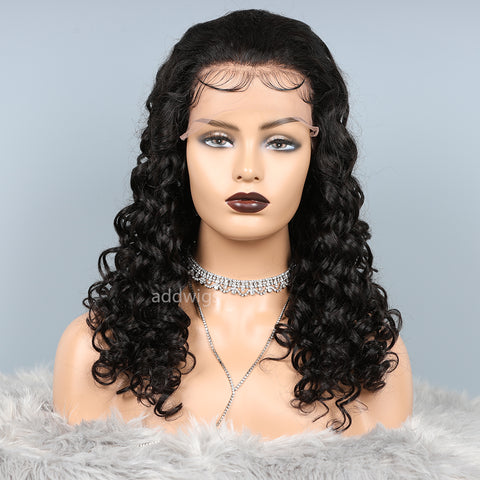Loose Wave Full Lace Wigs for Women Natural Black Pre-Plucked