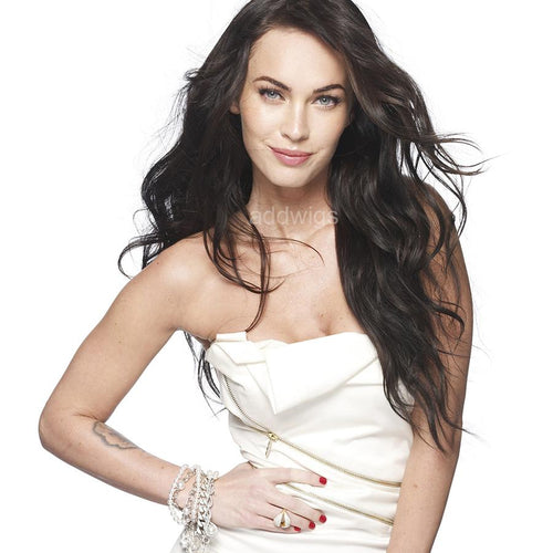 Megan Denise Fox Celebrity Customized Wigs Human Hair Lace Wig
