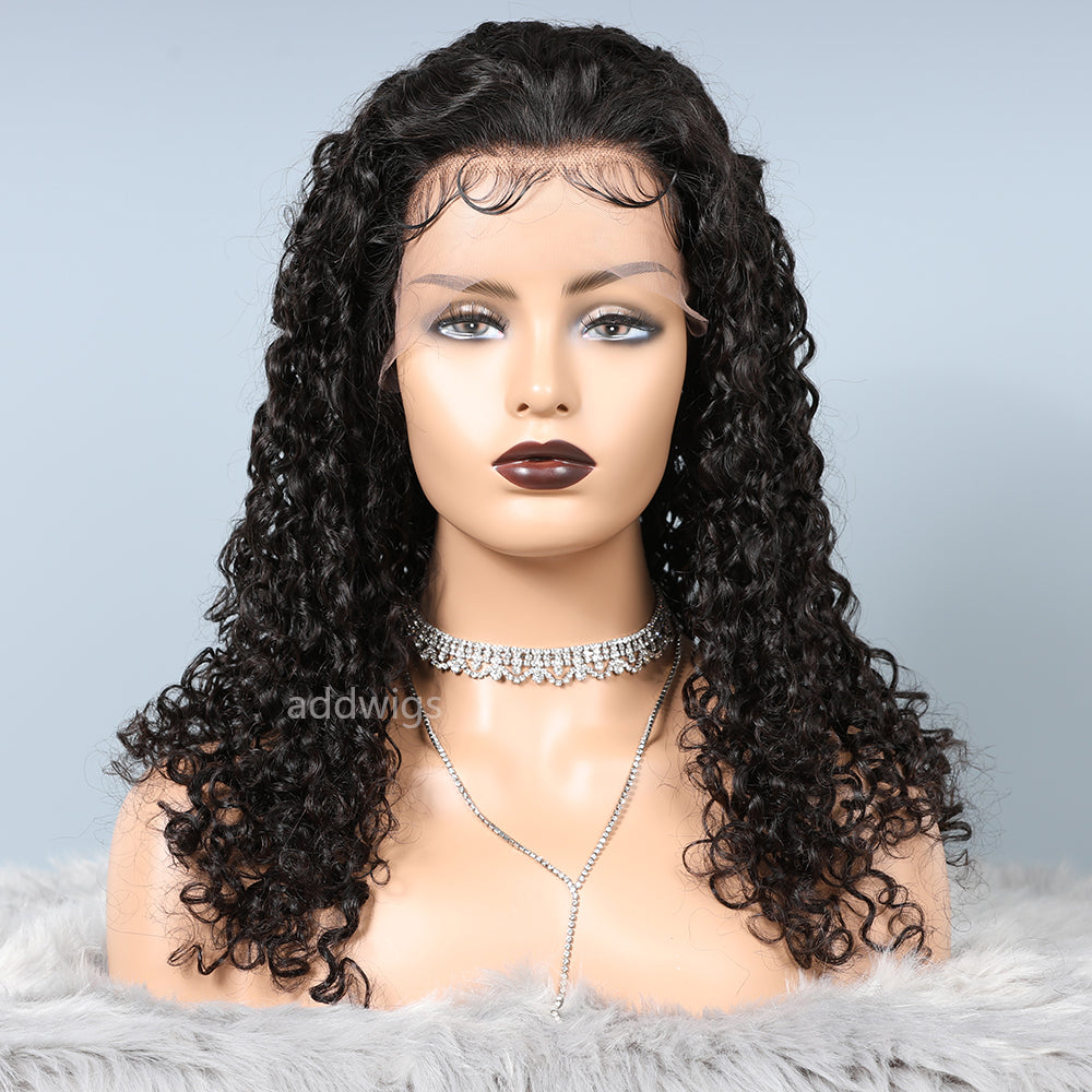 Best selling Curly Lace Front Wigs Natural Color With Baby Hair